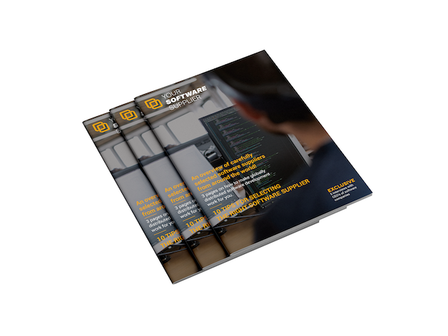 Cover pages of Your Software Supplier magazine.